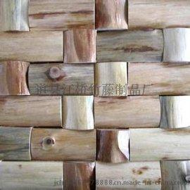 江桥竹藤生态装饰材料厂家专门为全国装修工程公司定做装饰原木片 防腐不开裂木片 年轮木片饰面板