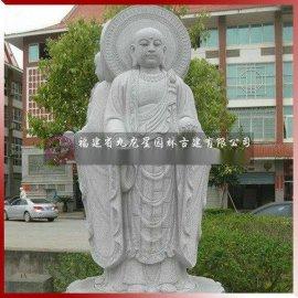 石材地藏菩萨三面雕像 石雕地藏王惠安佛像厂家