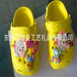 供应PVC软胶鞋面 滴胶商标 卡通鞋面 广告鞋面