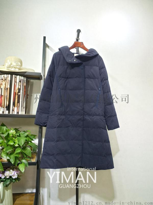 廣州伊曼服飾品牌折扣女裝尾貨走份,墨布語時尚羽絨服