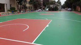 广西河池市篮球场施工厂家 水性硅PU材料 康奇体育
