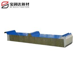 聚氨酯封边岩棉彩钢屋面板
