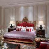義大利奢華實木雙人牀歐式婚牀實木雕刻傢俱高級定製樣板房傢俱