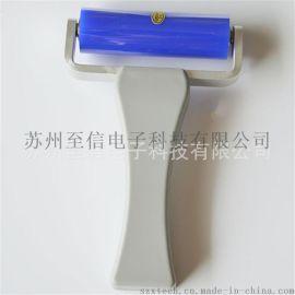 供应6寸、8寸ABS宽柄矽胶滚轮 矽胶粘尘滚筒 硅胶粘尘滚轮