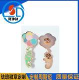 廠家專業定製金屬琺琅徽章烤漆徽章訂做五彩金蔥徽章製作質量保證