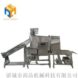 上海鸡米花生产线生产图 新品推荐鸡米花滚筒裹粉机