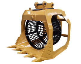 滚筒筛 液压筛分机 挖掘机筛分斗 挖机旋转筛分斗