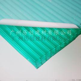 10mm四層綠色陽光板 空心板 pc陽光板廠家