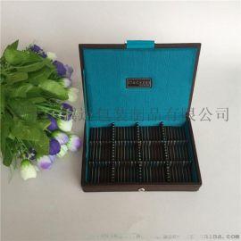 木質首飾收納盒珠寶收藏盤PU皮飾品收納盒