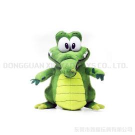 毛絨填充玩具 動物玩偶可愛小鱷魚廠家定制加工