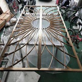 不锈钢中式钛金屏风来图定制客厅风水屏风加工