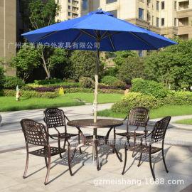 万科户外休闲铸铝桌椅案例实拍