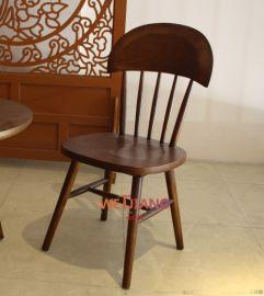 工厂直销温莎椅子 实木餐椅酒店餐厅家具