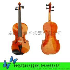 全手工实木虎纹花纹高档演奏小提琴成人儿童初学者考级