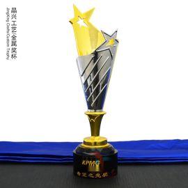 水晶獎杯金屬獎杯 五角星紀念品 獎牌獎杯定制