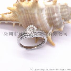 女士戒指定制925银首饰珠宝工厂 戒指个性定做