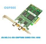 歐柏銳品牌雙路SD/HD/3G-SDI採集卡1080p雙路同時採集卡
