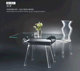 厂家自产自销欧美时尚亚克力茶几 批发有机玻璃水晶餐桌椅子