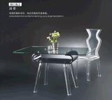 廠家自產自銷歐美時尚亞克力茶几 批發有機玻璃水晶餐桌椅子