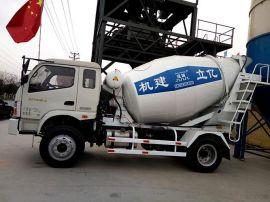混凝土搅拌运输车5立方,液压驱动、风冷式散热器/品牌:亿立/5方罐车