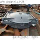 铸铁圆拍门厂家报价,250圆形水库铸铁拍门现场操作