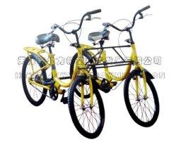 四轮并排双人自行车