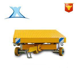 人工无动力手推拖车 无轨牵引车 四轮牵引车高速铁路预制梁的运输