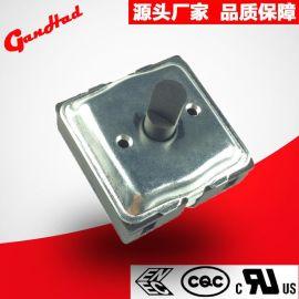 供应方形加铁盖壳旋转开关 电炖锅耐高温22.5 45度旋转开关