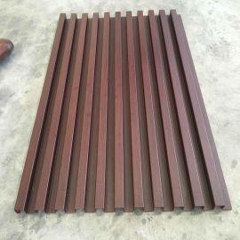 山东门头外墙铝合金长城板 铝木纹波浪造型铝单板