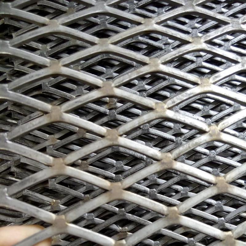 金属冲压钢板网 重型钢板网片 菱形钢板网
