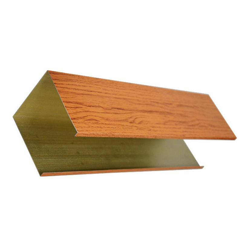 源頭廠家木紋鋁方通規格吊頂建材裝飾材料鋁方通定製