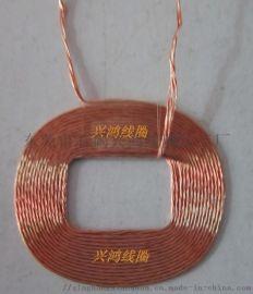 绞线无线充电方线圈