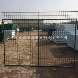 高速公路护栏网 绿色包塑公路路护栏网 框架护栏