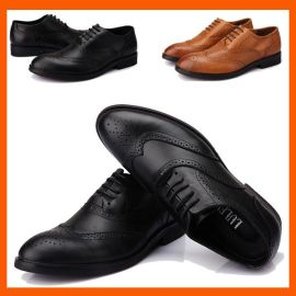 2014新款英伦雕花男士休闲皮鞋高档头层牛皮男士真皮鞋一件代发