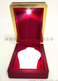 高端定制礼品盒 珠宝首饰盒 LED灯音乐饰品盒,**吊坠盒