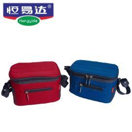 恒易达密封保温饭盒套装午餐便当包保鲜野餐包手提包三件套