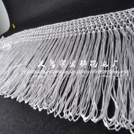 厂家直销 花式流苏花边 窗帘服装辅料 白色 量大从优 欢迎来电