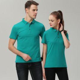 情侣装夏装班服定制同学生聚会运动会短袖T恤POLO衫印字员工作服