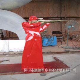 湖南长沙玻璃钢卡通雕塑 彩色玻璃钢卡通标志牌定制厂家