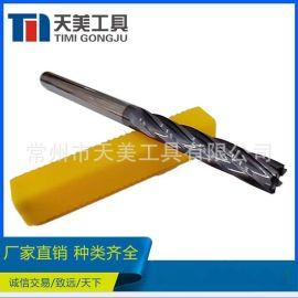 HRC45度 钨钢硬质合金加长螺旋6刃铰刀 数控刀具超硬刀具非标定制