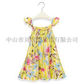 童裙 外贸童装批发 女童吊带连衣裙 女装童裙 小童洋裙 欧美精品