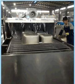 厨房不锈钢水槽除油污蜡脂清洗烘干自动流水线