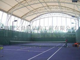 老干部活动中心门球场顶棚,膜结构门球场雨棚厂家