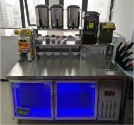 郑州奶茶设备奶茶操作台厂家,奶茶原料供应技术培训