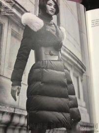 温州品牌女装库存尾货批发迪卡轩18年冬羽绒服货源