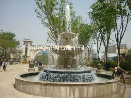 石雕喷泉 园林小区喷泉石雕水钵景观雕塑