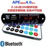 雙10W 4.0藍牙APE FLAC WAV WMA MP3音頻解碼 數位功放APP控制