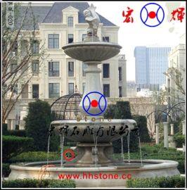 工厂现货供应石雕水钵/黄绣石喷泉承接制作