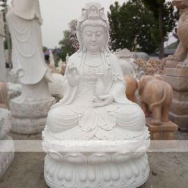 观音石雕汉白玉滴水观音菩萨寺庙供奉摆件