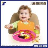 定制批发卡通创意硅胶餐垫一体式儿童分格餐盘卫生小孩子饭盘餐具
